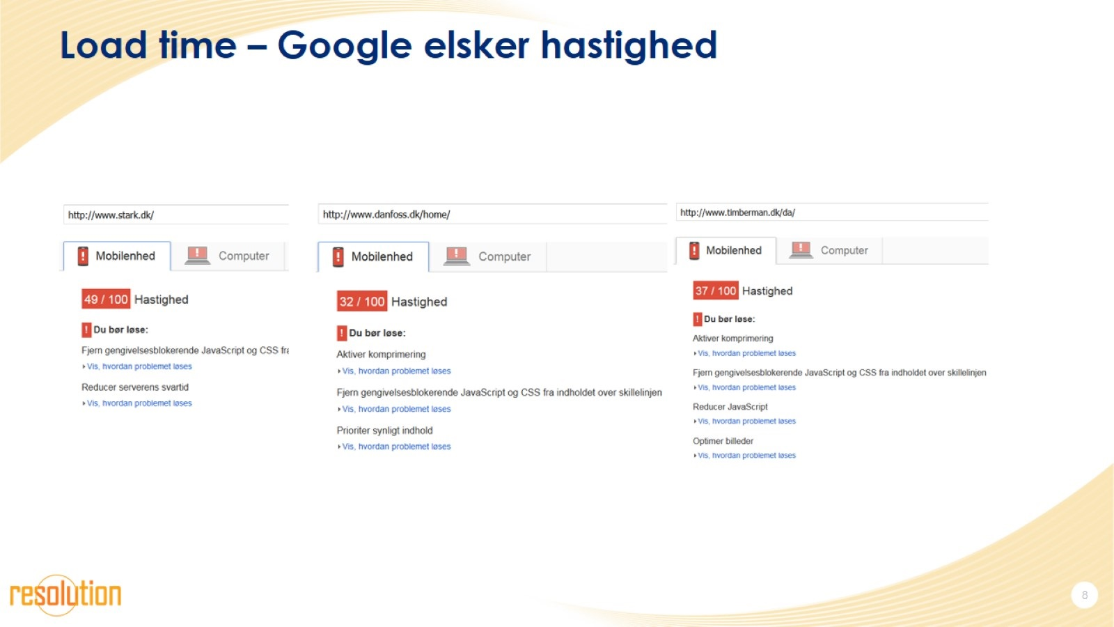 Load time – Google elsker hastighed